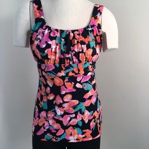 Ann Taylor Tank Camisole Top Size M Colorful